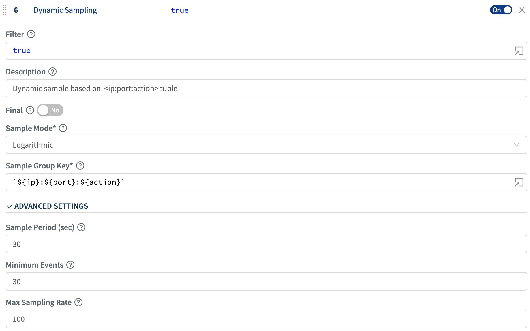 sampling-blog-configure